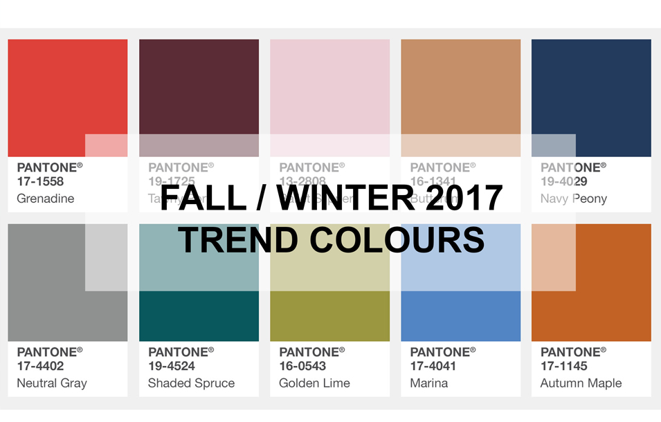 Fall Winter 2017 2018 Colour Trends Pantone Color Insute Palette For New York
